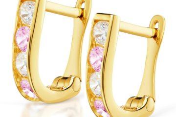 złote kolczyki prostopkąciki