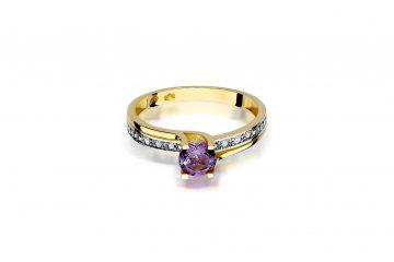 pierścionek zaręczynowy z ametystem